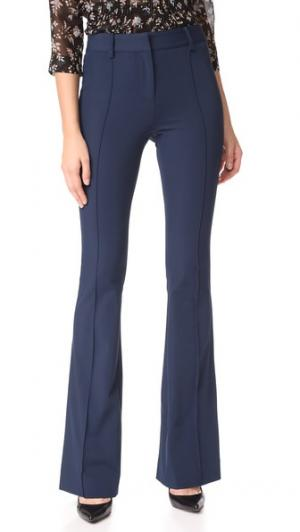 Расклешенные брюки Hibiscus Veronica Beard. Цвет: темно-синий