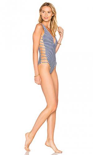 Слитный купальник avies Mia Marcelle. Цвет: синий