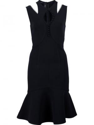 Платье без рукавов Yigal Azrouel. Цвет: чёрный