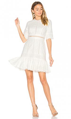 Легкое платье с вышивкой caravan Zimmermann. Цвет: белый