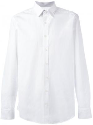 Рубашка на пуговицах Hackett. Цвет: белый