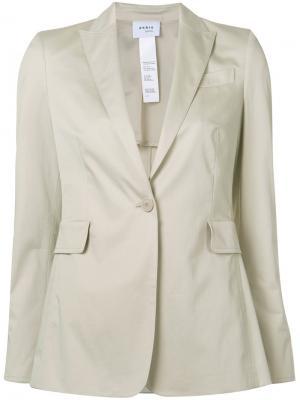 Пиджак с застежкой на одну пуговицу Akris Punto. Цвет: телесный