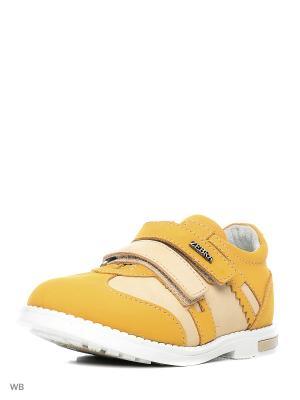 Ботинки Зебра. Цвет: горчичный