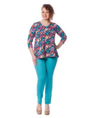 Блузка BERKLINE. Цвет: синий, бирюзовый