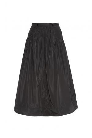 Юбка из искусственного шелка 180600 Cyrille Gassiline. Цвет: черный