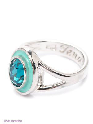 Кольцо Jenavi. Цвет: серебристый, синий, бирюзовый