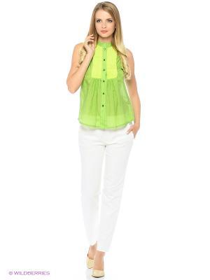 Блузка SEVONA. Цвет: зеленый