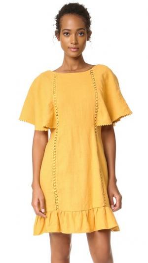 Платье Must Moon River. Цвет: оранжевый