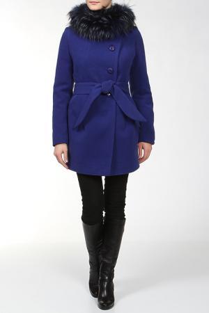 Пальто КОРУ-СТИЛЬ. Цвет: синий
