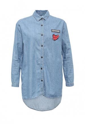 Рубашка джинсовая Jennyfer. Цвет: голубой