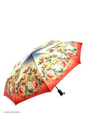 Зонт RAINDROPS. Цвет: красный, желтый