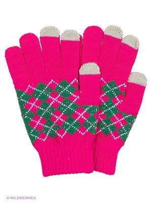 Перчатки для сенсорных экранов TERRITORY. Цвет: розовый