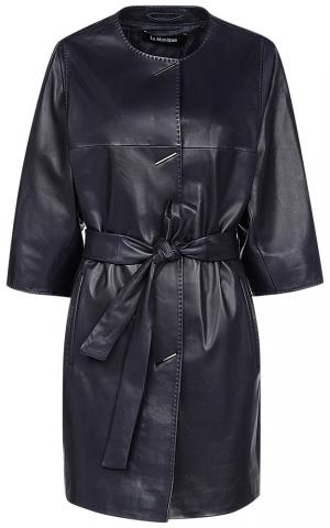 Удлиненная кожаная куртка Le monique