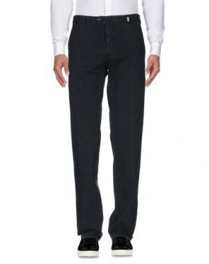 Повседневные брюки GIO ZUBON. Цвет: грифельно-синий