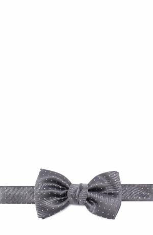 Шелковый галстук-бабочка с узором Lanvin. Цвет: серый