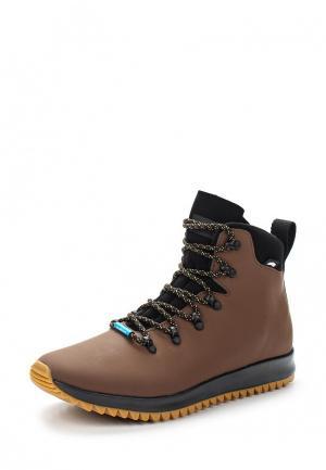 Ботинки Native. Цвет: коричневый