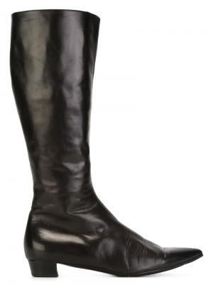 Сапоги с заостренным носком Helmut Lang Vintage. Цвет: коричневый