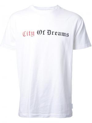 Футболка с принтом City of Dreams Cityshop. Цвет: белый