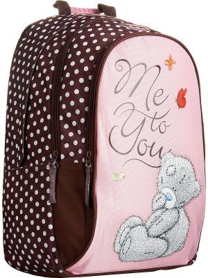 Рюкзак Me to you. Цвет: коричневый, розовый