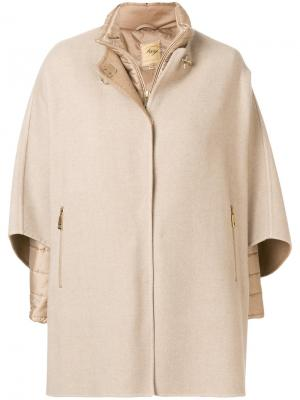 Утепленная куртка-кейп Fay. Цвет: коричневый