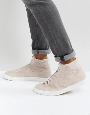 Nike Розовые кроссовки средней высоты Blazer 371761-607. Цвет: розовый
