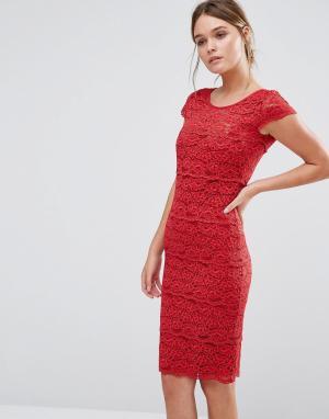 Body Frock Кружевное моделирующее платье Jasmine. Цвет: красный