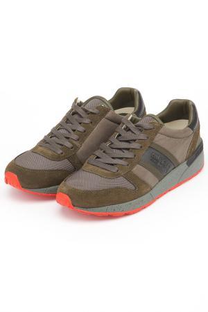 Полуботинки кроссовые Tommy Hilfiger. Цвет: темно-оливковый