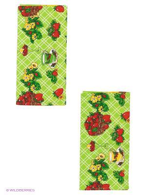 Набор кухонных полотенец 2 шт. Метиз. Цвет: зеленый