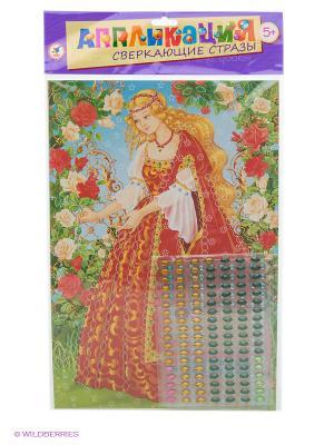 Набор для творчества Сверкающие стразы. Принцесса Дрофа-Медиа. Цвет: красный, зеленый