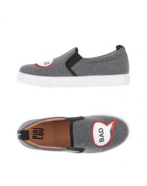 Низкие кеды и кроссовки BIBI LOU. Цвет: серый