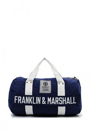 Сумка спортивная Franklin & Marshall. Цвет: синий