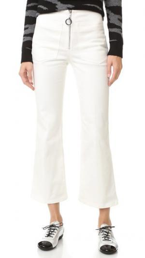 Расклешенные джинсы EDUN. Цвет: белый