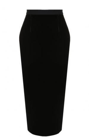 Однотонная юбка-карандаш с широким поясом Roland Mouret. Цвет: черный