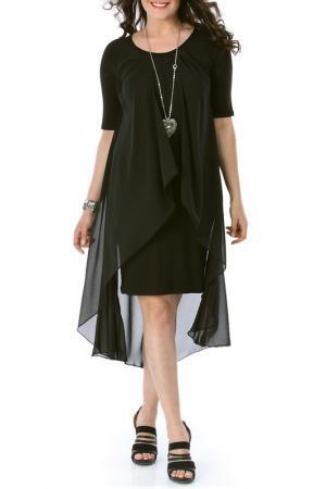 Платье VALERIA FRATTA. Цвет: черный