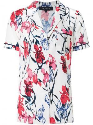 Пижамная рубашка с цветочным принтом Thakoon. Цвет: белый