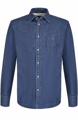 Джинсовая рубашка на пуговицах Rag&Bone. Цвет: синий