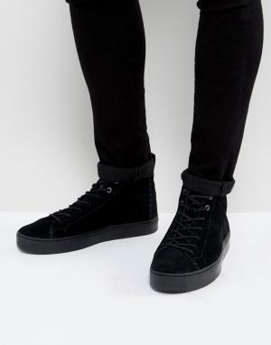 Toms Замшевые высокие кроссовки. Цвет: черный