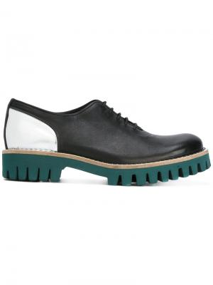 Туфли на платформе со шнуровкой Cotélac. Цвет: чёрный