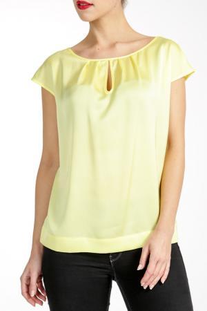 Блузка PAOLA COLLECTION. Цвет: желтый