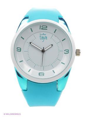 Часы Taya. Цвет: белый, бирюзовый