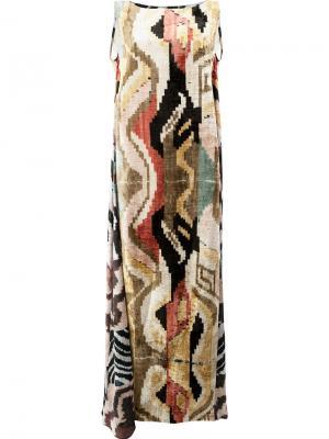 Длинное платье-кафтан Afroditi Hera. Цвет: многоцветный