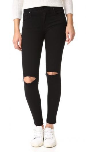 Джинсы-леггинсы Twiggy до щиколотки с пятью карманами James Jeans. Цвет: черный лебедь необработанный