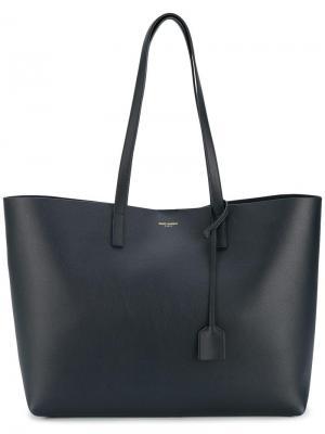 Большая сумка-шоппер Saint Laurent. Цвет: синий