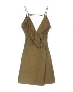 Короткое платье JITROIS. Цвет: зеленый-милитари