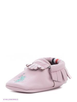 Пинетки U.S. Polo Assn.. Цвет: розовый, белый