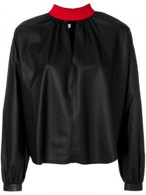 Блузка с высокой горловиной Fausto Puglisi. Цвет: чёрный