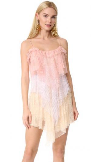 Платье без рукавов Philosophy di Lorenzo Serafini. Цвет: фантазийный принт розовый