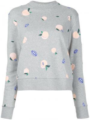 Peaches print sweatshirt Être Cécile. Цвет: серый