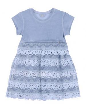 Платье MICROBE. Цвет: небесно-голубой
