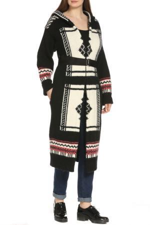 Пальто Dondup. Цвет: вязаный, черный, белый